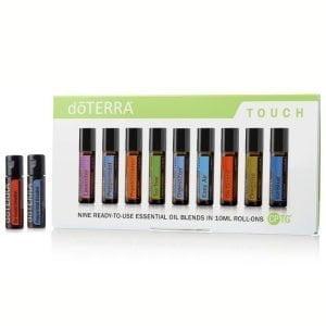 Touch Kit Essential Oil Roll On Lavender Peppermint Frankincense Tea Tree DigestZen Easy Air On Guard Oregano IceBlue dōTERRA | AromaNita.com.au